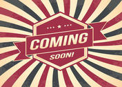Coming Soon Retro Style Background