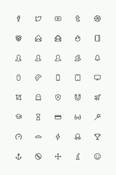Ligne simple Icons Set Vol.4