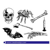 SCARY VECTOR ILLUSTRATIONS.eps