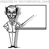 CRAZY PROFESSOR VECTOR IMAGE.eps