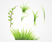 Grass Vector Elements (Free)