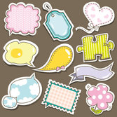 Cute cartoon sticker vector-7