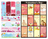 Cute Valentine's Day Background Vector Valentine's Day Love Letters Envelopes