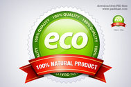 Eco Friendly Seal icon (PSD)