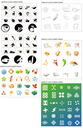 South Korean-style icon sets of 6