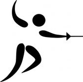 Olympic Sports Fencing Pictogram