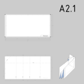 DIN A2.1 technical drawing format and folding
