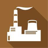 FACTORY FLAT ICON VECTOR.eps