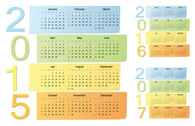 Simplistic Long Sticky Note 2015 Calendar