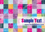 Squares Vector Colorful Design