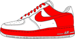 red and white air force 1 PSD