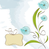 Flower hand-painted vector-1