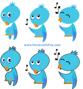 Twitter Birds by Mau Russo (6 Icons)