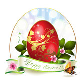 Free Colorful easter card template