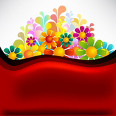 Beautiful flowers background vector-10