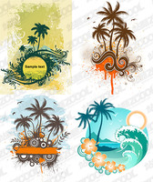 4 coconut trees theme