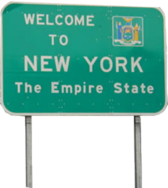 Welcome to New York Sign PSD