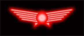 Glowing aviation symbol