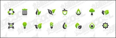 Green ash combination of simple icons