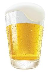 Realistic Pouring Frosty Beer Glass