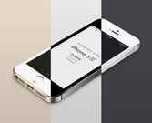 3D weergave iPhone 5S Psd Vector Mockup