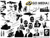 Go Media Produced Vector Graphic - The Theme Of War
