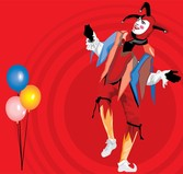 Balloons And Clown