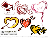 Free Valentine's Love Heart Vector Set-1
