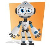 Free Robot Vector Character