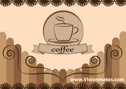 Vector Coffee Cup Card