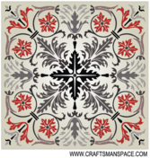 Square Marquetry Pattern Free