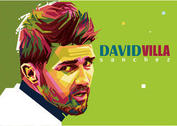 David Villa Vector Portrait