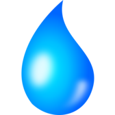 Water drop - shaded
