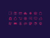 e-ticaret Icon Set