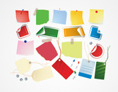 Post-It nota carta con perni & Shopping Tags