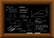 Vector Formula Blackboard Filled With Material