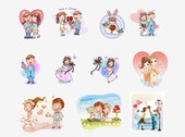 Cartoon couple 01