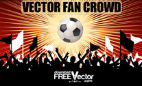 Kostenlose Vector-Fan-Crowd