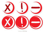 Skethcy Red Cancelled Circle Icons Vector Pack