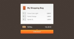 Attractive Shopping Cart Checkout PSD