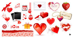 Valentine's Day Heart Element Vector Material Valentine's Day Romance Lover