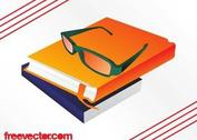 Books And Glasses Graphics