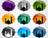 Mosque Icons Set .Vector Icons