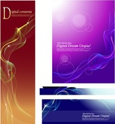 Colorful Dream Smoke vector elements