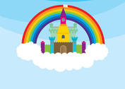 Princess Castle & Rainbow