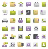Free Gray Green and Purple Web Design Vector Icons