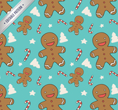 Cookie seamless background