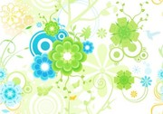 Blue Green Floral Abstract Pattern Background