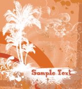 Fee Vector Grungy Summer Background