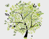 Stock Illustrationen Baum-Schmetterlinge